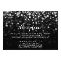 Silver Black Hollywood Glitz Glam Reception Card (<em>$1.96</em>)