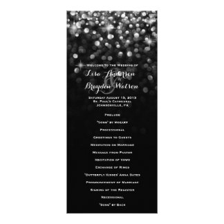 Silver Black Hollywood Glitz Glam Wedding Program