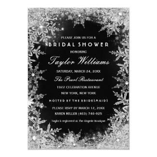 silver_black_jewel_snowflake_bridal_shower_invitation rb1d3f65575c247cbb174a0a1180585ea_zkrqe_325?rlvnet=1 10 winter wonderland bridal shower invitations winter theme,Winter Wonderland Bridal Shower Invitations