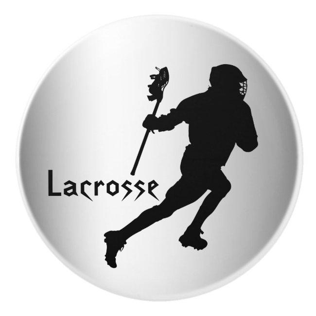 Silver Black Lacrosse Ceramic Knob
