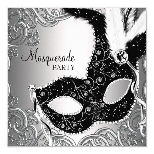 masquerade party invitations & announcements | zazzle, Party invitations