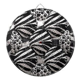 Silver Black Metal Texture Collage Dart Boards