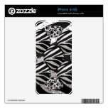 Silver/Black Metal Texture Collage iPhone 4S Skins