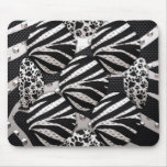 Silver/Black Metal Texture Collage Mousepad
