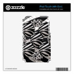 Silver/Black Metal Texture Collage iPod Touch 4G Skins