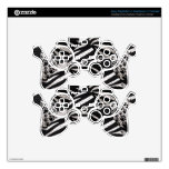 Silver/Black Metal Texture Collage PS3 Controller Decals