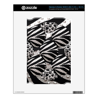 Silver Black Metal Texture Collage Skin For NOOK
