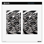 Silver/Black Metal Texture Collage Decals For Kindle Fire