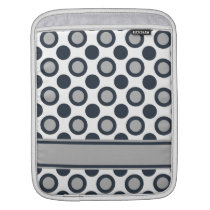 Silver Black Polka Dots Sleeve For iPads