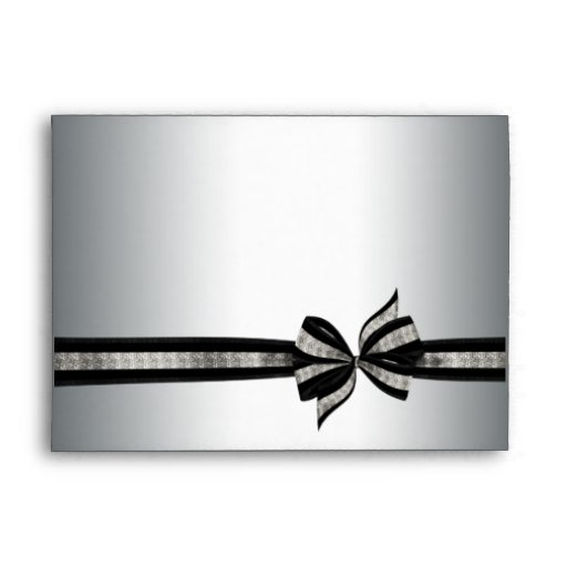 Silver & Black Ribbon Envelopes
