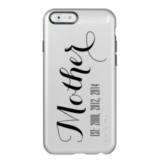Silver Black Script Mother's Day Keepsake Incipio Feather® Shine iPhone 6 Case