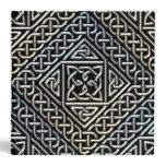 Silver Black Square Shapes Celtic Knotwork Pattern Binder
