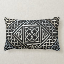Silver Black Square Shapes Celtic Knotwork Pattern