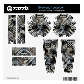 Silver Black Square Shapes Celtic Knotwork Pattern Skins For Skullcandy