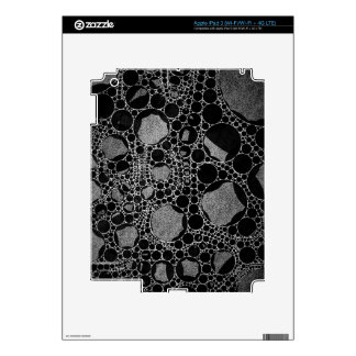 Silver Black Textured Abstract iPad 3 Skins