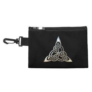Silver Black Triangle Spirals Celtic Knot Design Accessories Bags