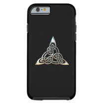 Silver Black Triangle Spirals Celtic Knot Design
