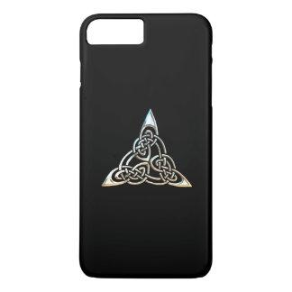 Silver Black Triangle Spirals Celtic Knot Design iPhone 7 Plus Case