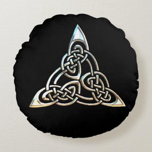 Silver Black Triangle Spirals Celtic Knot Design