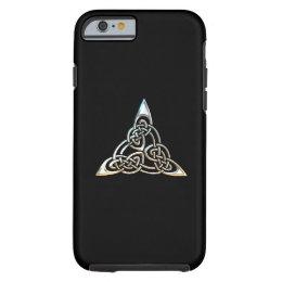 Silver Black Triangle Spirals Celtic Knot Design Tough iPhone 6 Case