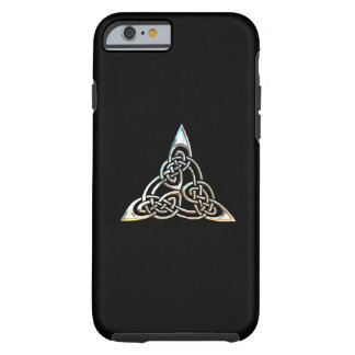 Silver Black Triangle Spirals Celtic Knot Design Tough iPhone 6 Case