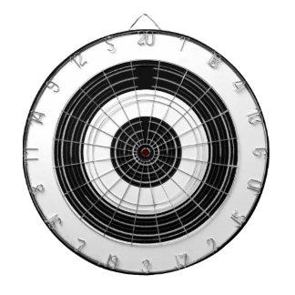Silver Black Wheels Dartboard With Darts