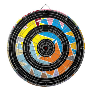 Silver Black Wheels - Happy Time Graphics Dartboard