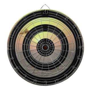 Silver Black Wheels - Happy Time Sunset Toronto Dartboard With Darts