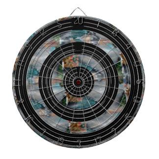 Silver Black Wheels - Japanese Pearls Dartboard With Darts