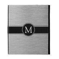 Silver, Black, White Monogram iPad Folio iPad Folio Case