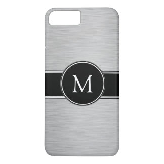Silver, Black, White with Your Monogram iPhone 7 Plus Case