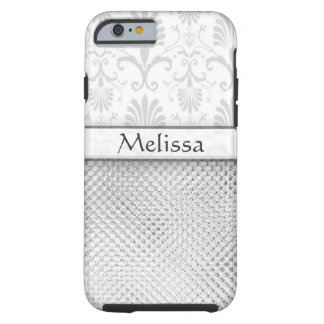 Silver Bling Effect Pattern Personalized Tough iPhone 6 Case