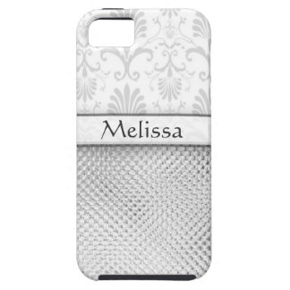 Silver Bling Effect Pattern  Personalized iPhone SE/5/5s Case