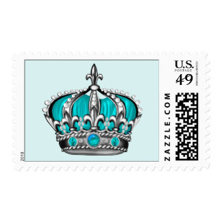 Silver Blue Crown Postage Stamps