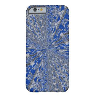 Silver/Blue design slim lightweight iPhone 6 case