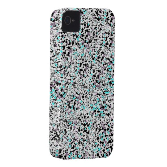 Silver blue glitter iphone 4 barely case