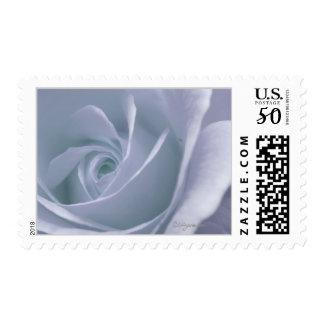 Silver Blue Gray Rose Wedding Postage
