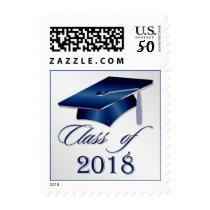 Silver blue Mortar cap Graduation 2018 Postage