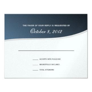 "Silver Blue Music Response Card 4.25"" X 5.5"" Invitation Card"