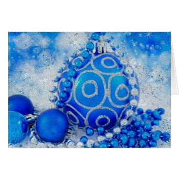 Professional Business Silver blue ornaments card