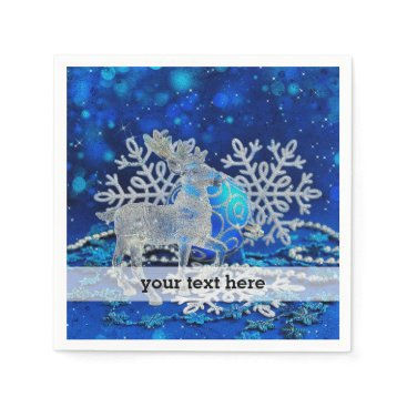 Professional Business Silver blue ornaments napkin