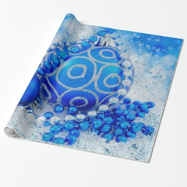 Professional Business Silver blue ornaments wrapping paper