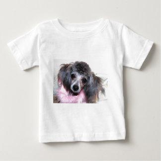 Silver Blue Poodle Puppy Face Portrait Baby T-Shirt