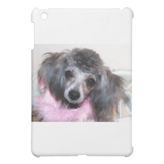 Silver Blue Poodle Puppy Face Portrait Case For The iPad Mini