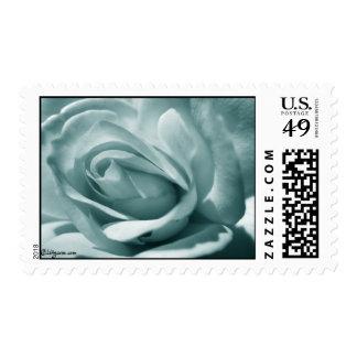 Silver Blue Rose Wedding Postage