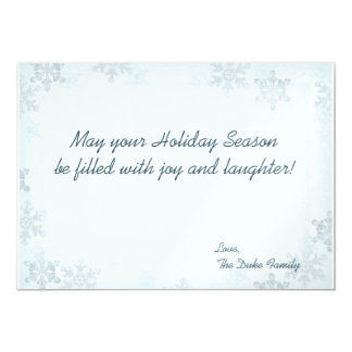 Silver-Blue Snowflake Photo Holiday Card