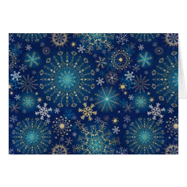 Professional Business Silver blue snowflakes card