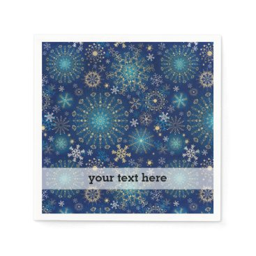 Professional Business Silver blue snowflakes napkin