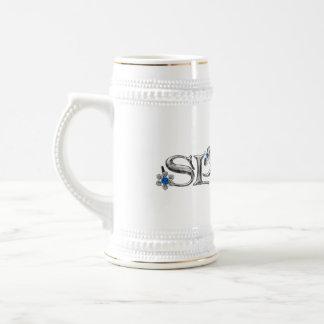 Silver Blue Sprite Beer Stein