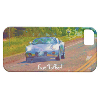 Silver-Blue Superfast Sports Car Fun iPhone 5 Case